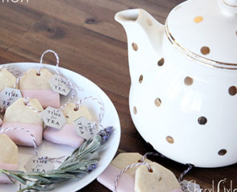 Tea Bag Shaped Lavender-Lemon Cookies