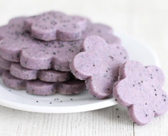 Hibiscus Tea & Poppy Seed Shortbread