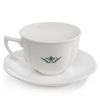 White Classic Teacup & Saucer