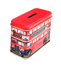 Little London Bus Money Box Caddy